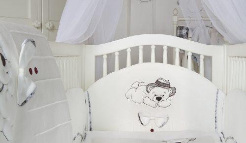 Ochraniacz do łóżeczka dziecięgo Gracjan, Sofija Ecru
