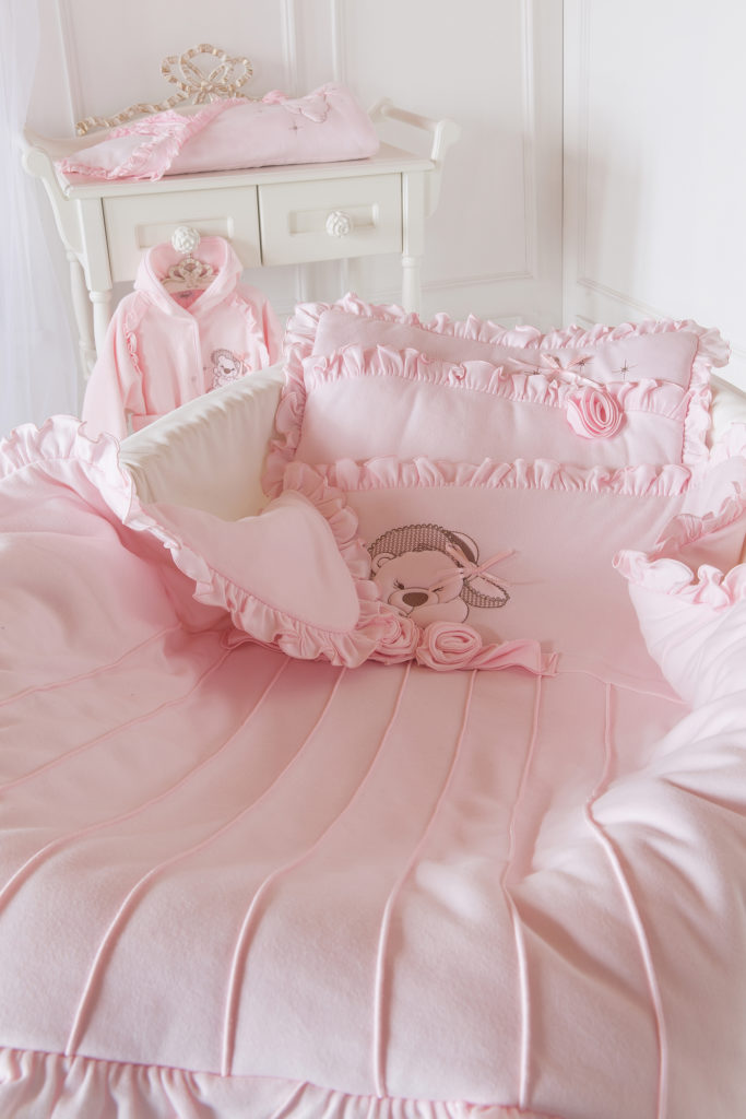 Ochraniacz do łóżeczka Sofija kolekcja Anastazja Jasny Różowy