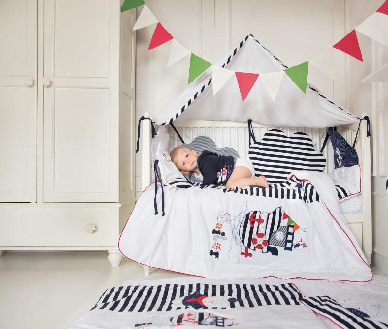 Ochraniacz do łóżeczka dzieciecego 120x60 Morskie opowieśći Sofija