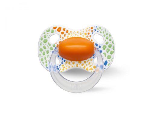 Bibi smoczek silikonowy natural Happy Wild Baby 6-16 Pomarańczowy