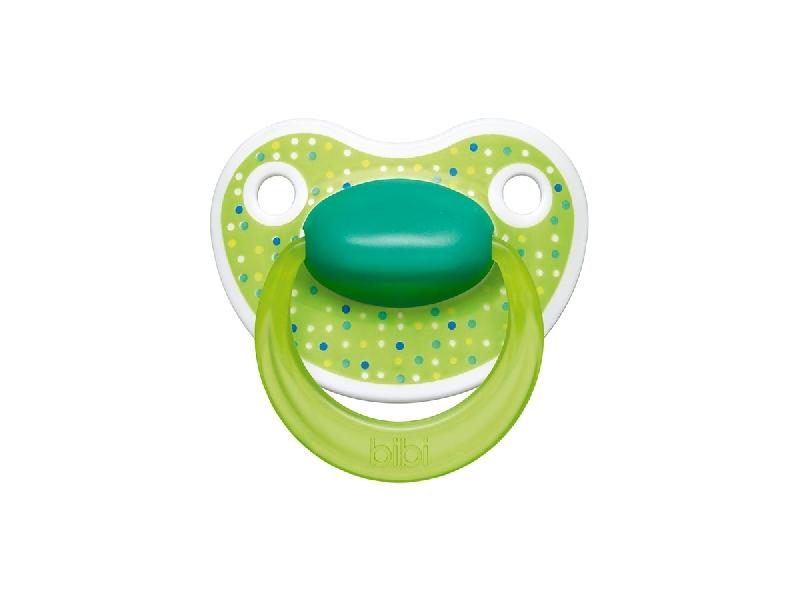 BiBi Smoczek ortodontyczny kolekcja Lovely dots 16 m+ Zielony