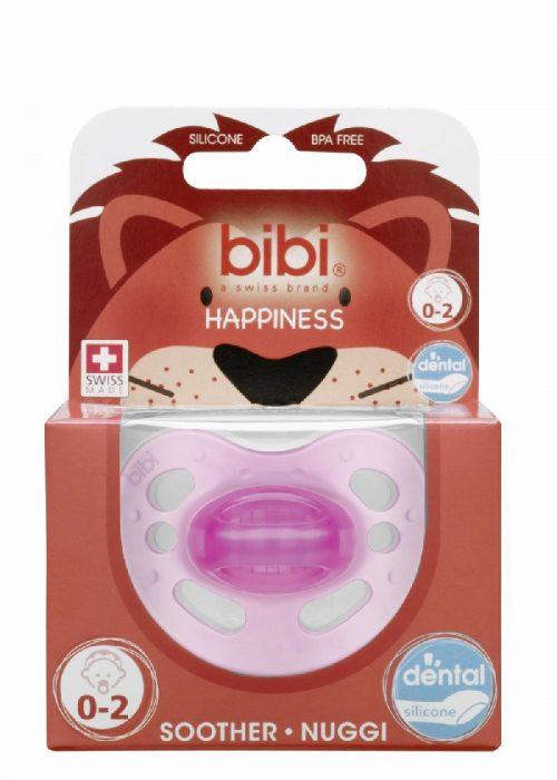 Bibi Smoczek ortodontyczny Happy New Born 0-2 Różowy