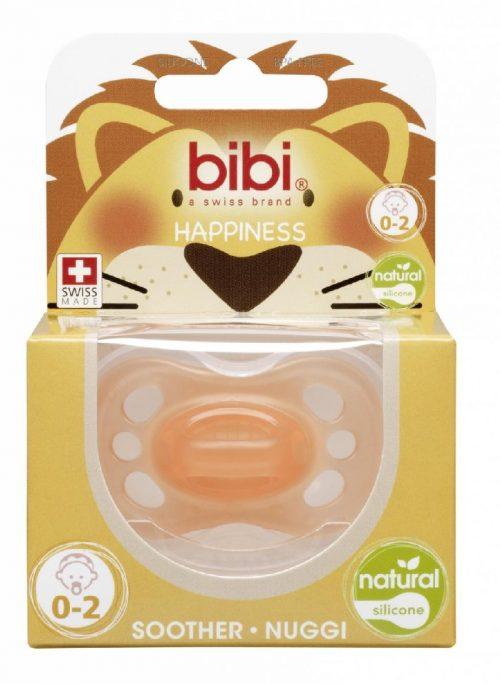Bibi smoczek ortodontyczny Happy New Born Natural 0-2 Pomarańczowy