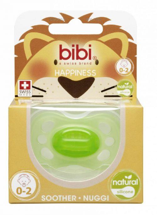 Bibi smoczek ortodontyczny Happy New Born Natural 0-2 Zielony