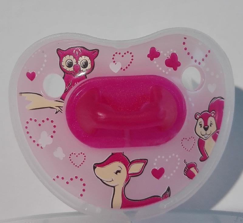 Bibi smoczek uspokajający różowa Sarenka bez uchwytu 12-36 Dental
