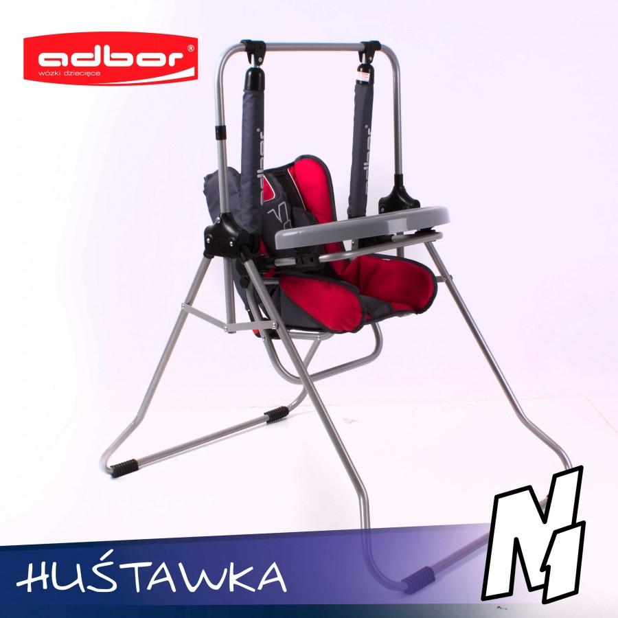 Bezpieczna huśtawka dla dzieci N1 w komplecie z tacką i blokadą tworzy krzesełko do karmienia - Adbor