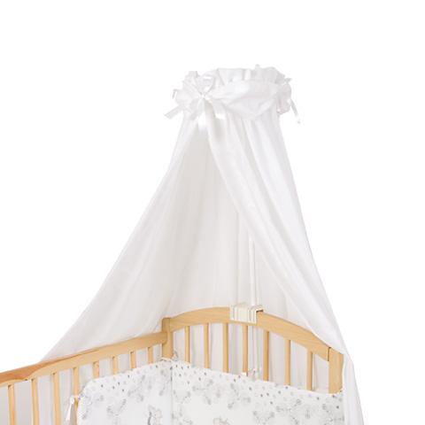 Baldachim uniwersalny do łóżeczka dziecięcego jednobarwny z kokardą Baby Matex pistacjowy