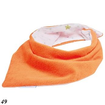 Chusta dziecięca pod szuję dwustronna bawełna + plusz Baby Matex pomarańczowa