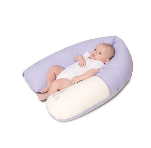 Poduszka z weluru Baby Matex 170 cm  poduszka do karmienia różowa