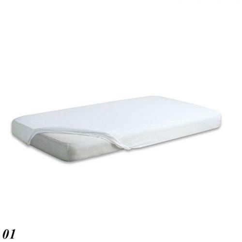 Prześcieradło do łóżeczka 120x60 z gumka Jersey Baby Matex biały