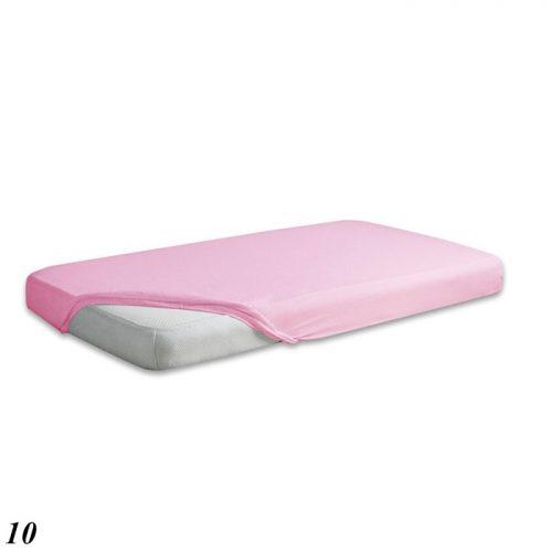 Prześcieradło do łóżeczka 120x60 z gumka Jersey Baby Matex różowe