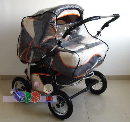 Folia przeciwdeszczowa na wózki bliźniacze.