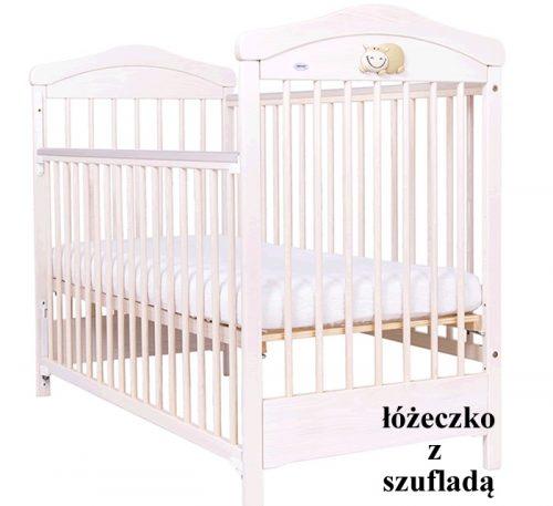 Hippo łóżeczko z szufladą120x60 cm Drewex Biały transparentny