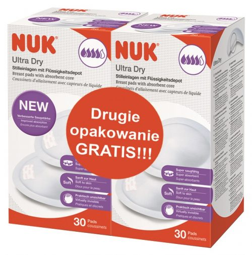 Wkładki laktacyjne Nuk 30 szt + 2 opakowanie GRATIS