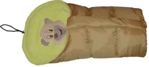 Polarowy śpiworek do wózka dopinany 90 lub 110  cm Beż Pistacja