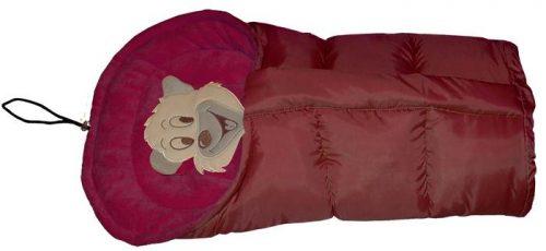 Polarowy śpiworek do wózka dopinany 90 lub 110  cm Bordo Bordo