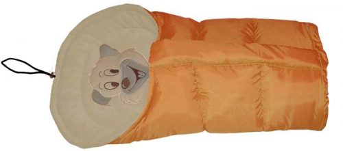Polarowy śpiworek do wózka dopinany 90 lub 110  cm Pomarańcz Beż