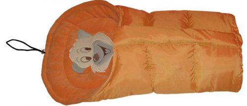 Polarowy śpiworek do wózka dopinany 90 lub 110  cm Pomarańcz Pomarańcz