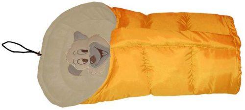 Polarowy śpiworek do wózka dopinany 90 lub 110  cm Żółty Beż