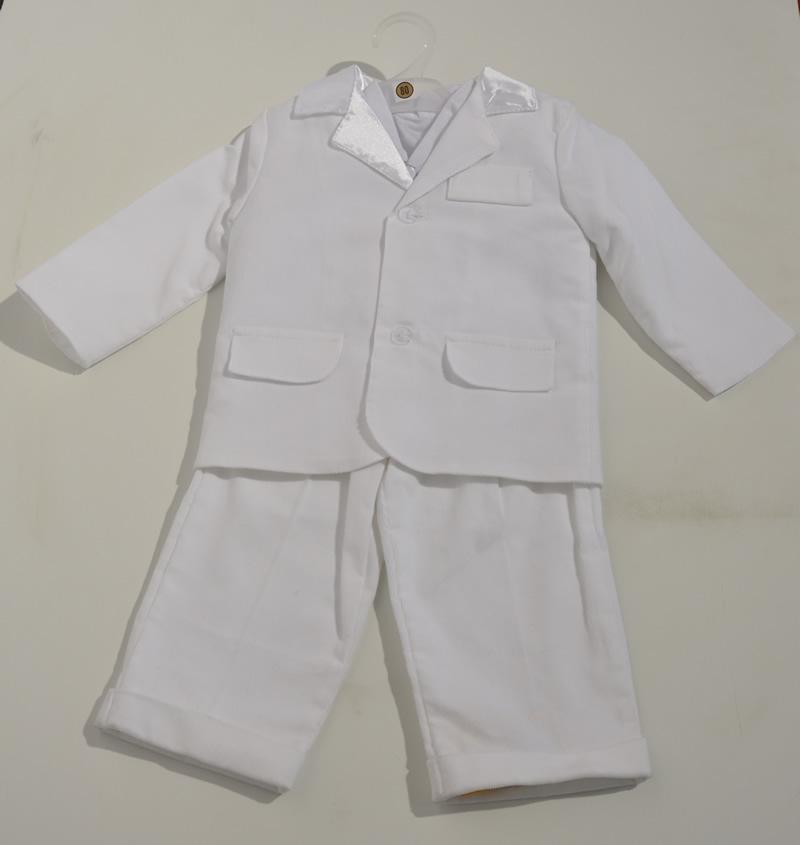 Garnitur do chrztu sztruksowy spdnie marynarka + koszula 80