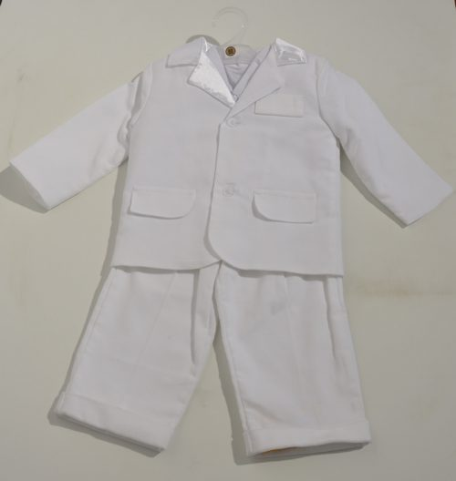 Garnitur do chrztu sztruksowy spdnie marynarka + koszula 86