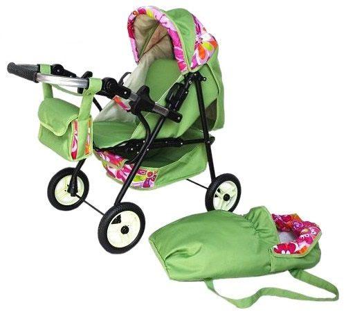 Duży solidny polski wózek dla lalek Mini Ring z funkcją wózka spacerowego oraz głębokiego