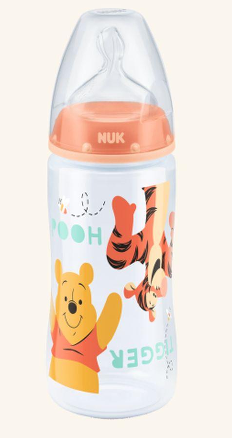 Nuk butelka FC ze smoczkiem silikonowym 300 ml Pomarańczowy Kubuś Puchatek