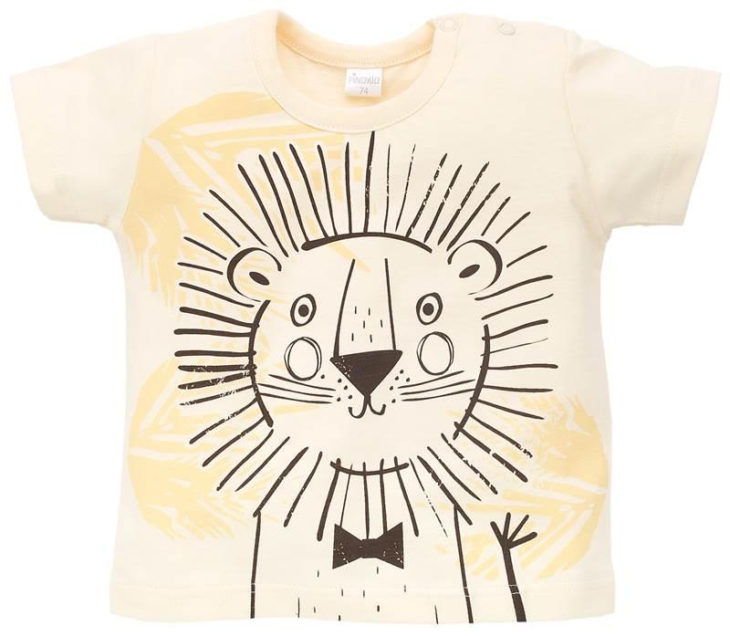 T-Shirt z krótkim rękawkiem Leon, Pinokio 74 Żółty