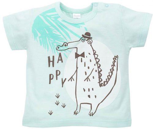 T-Shirt z krótkim rękawkiem Leon, Pinokio 92 Turkusowy