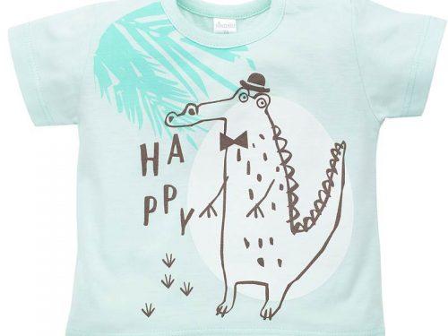 T-Shirt z krótkim rękawkiem Leon, Pinokio 98 Turkusowy