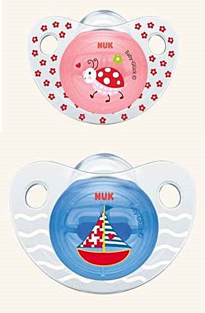 Smoczek uspokajający silikonowy 0-6 miesięcy Baby Gluck Nuk Biedronka i żaglówka