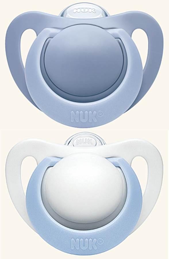Nuk - smoczek Genius silikonowy 18-36 msc, 2 sztuk niebieski