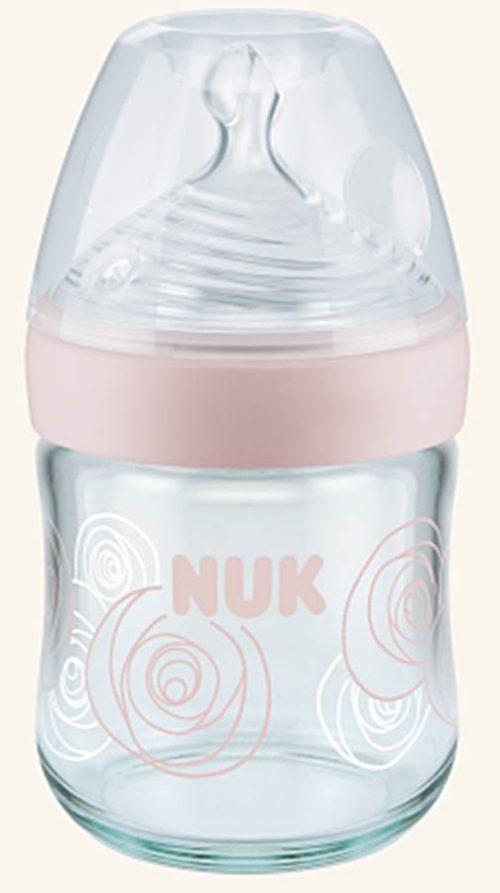 Butelka szklana 0-6 msc 120 ml Nature Sense Nuk Różowy