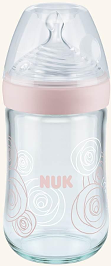 Butelka szklana 0-6 msc 240 ml Nature Sense Nuk Różowy