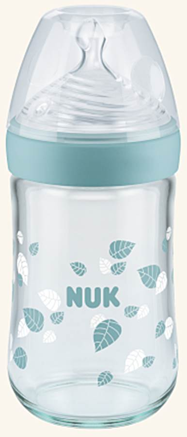 Butelka szklana 0-6 msc 240 ml Nature Sense Nuk Zielony