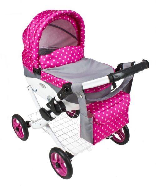 Wózek lalkowy Lily z plastikową gondolą K08