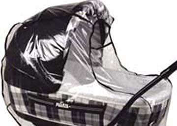 Folia przeciwdeszczowa na duże gondole - uniwersalna osłona przeciwdeszczowa do wózka głębokiego Roan Marita Emma Sofija