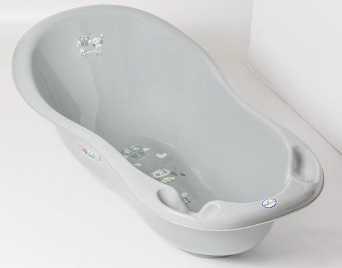 Mała wanienka do kąpieli 86 cm Sowa szara Tega Baby