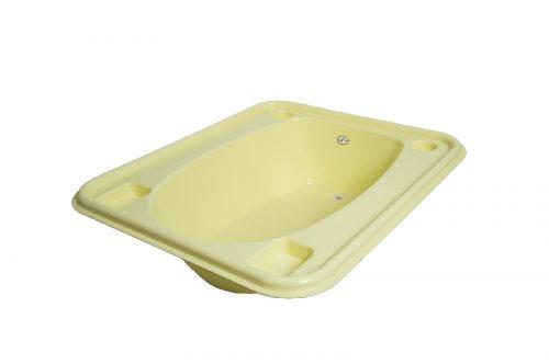 Wanienka kwadratowa do kąpieli niemowląt żółty Tega baby
