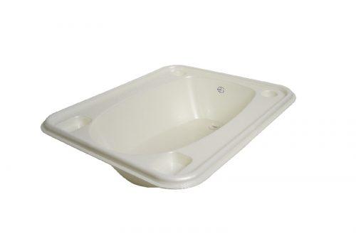 Kwadratowa wanienka z korkiem do kąpieli  Biały Perła Tega Baby