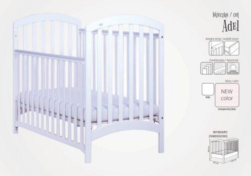 Łóżeczko firmy Drewex Adel z szufladą 120x60 biały