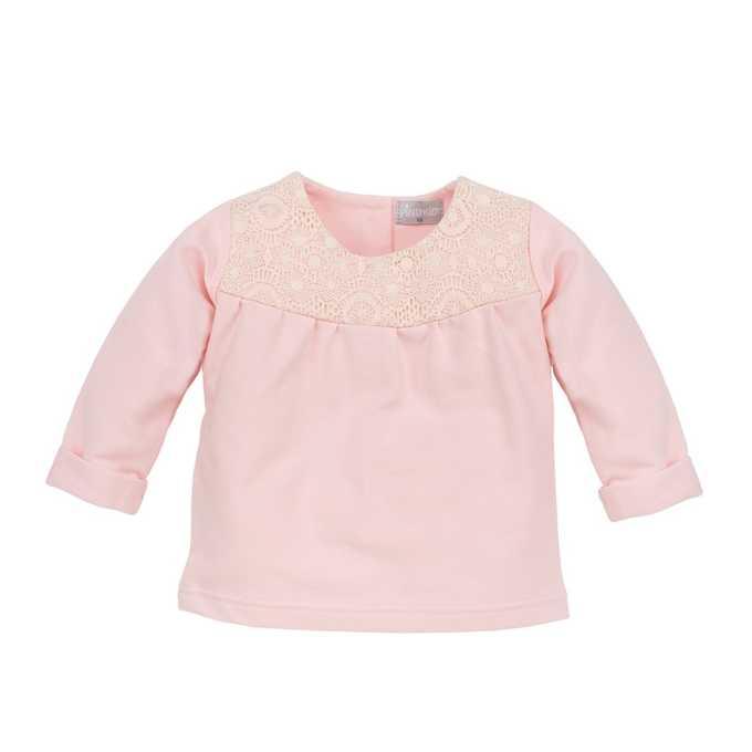 Bluzka z długim rękawem dla dziewczynki rózowa Colette Pinokio 92