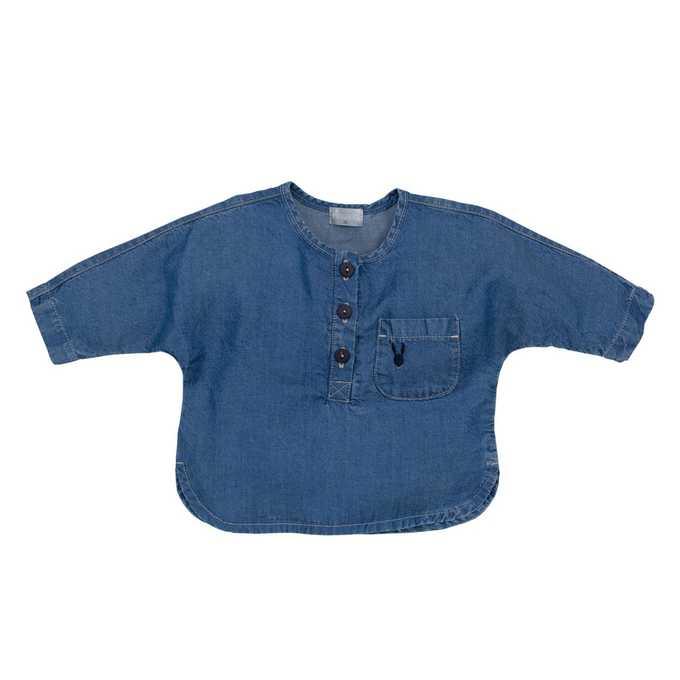 Bluzka z tkaniny z długim rękawem Coletta Pinokio 86