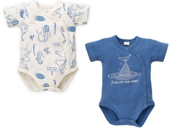 Pinokio Body krótki rękaw rozpinane Sea World 68 Niebieski