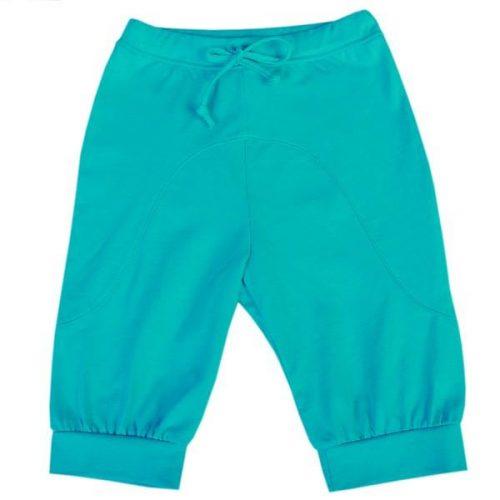 Bawełniane spodnie dziewczęce na lato Pinokio kolekcja Jungle Girl_122_Turkusowy