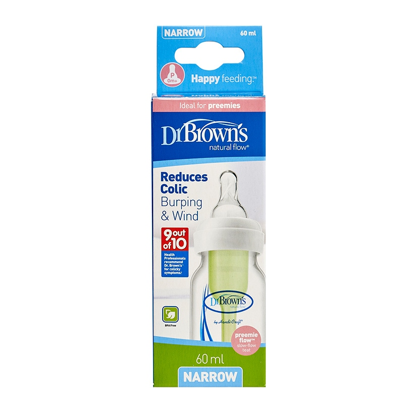 Dr Browns butelka standard 60ml options ze smoczkiem dla wcześniaków