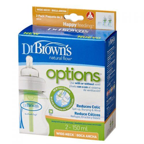 Dr Browns butelka szeroka szyjka 150ml options 2 pak