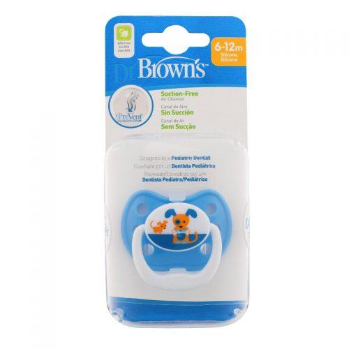 Dr Browns smoczek prevent classic 6-12 miesięcy 1 szt kolorystyka dla chłopca Piesek