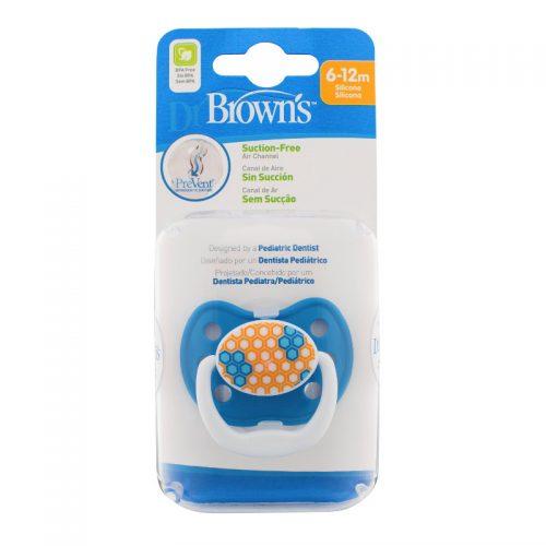 Dr Browns smoczek prevent classic 6-12 miesięcy 1 szt kolorystyka dla chłopca Pięciokonty