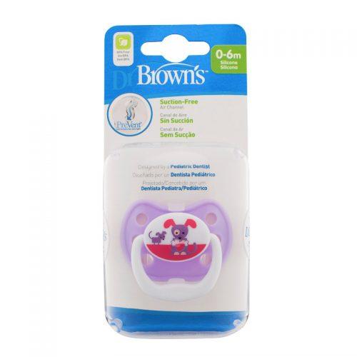 Dr Browns smoczek prevent classic 0-6 miesięcy 1 szt kolorystyka dla piesek